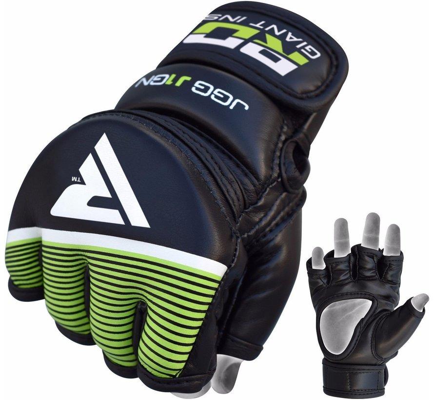 RDX Grappling Gloves Kids - Zwart met groen-0