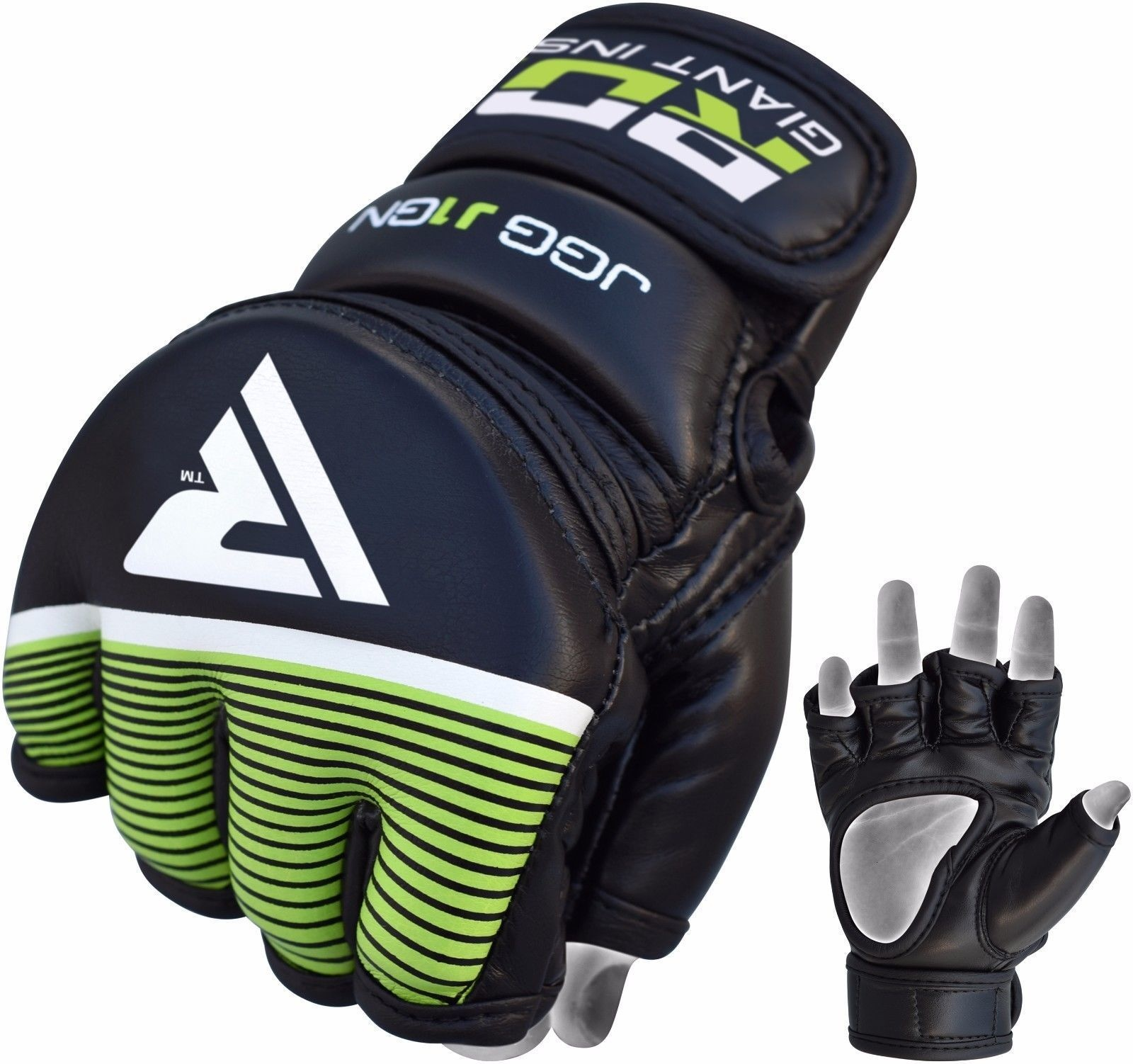 RDX Grappling Gloves Kids - Zwart met groen-538687