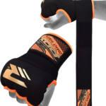RDX Sports Binnenhandschoenen met padding – Oranje-0