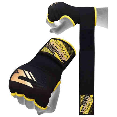 RDX Sports Binnenhandschoenen met padding - Zwart/Geel-0