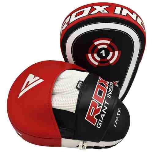 RDX Sports Focus Pads Rex Curve T1 - Rood/Zwart-0