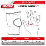 RDX Sports Binnenhandschoenen met padding – Oranje-536089