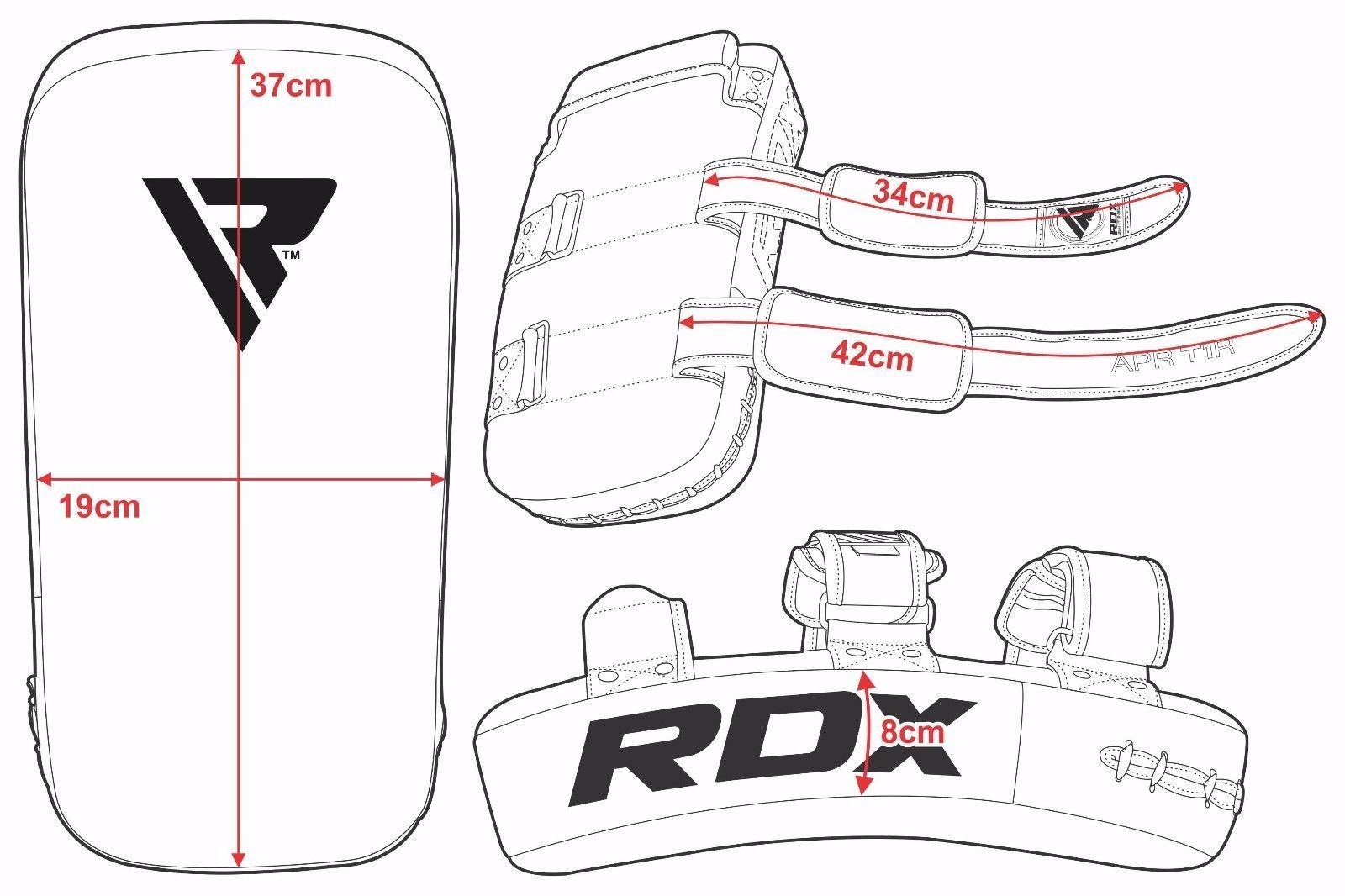 RDX Sports APR-T1 Stootkussen - Per Stuk - Wit-535824