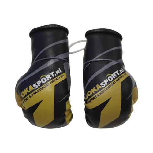 Joka Sport Mini Bokshandschoenen - Zwart, geel met grijs - jokasport.nl