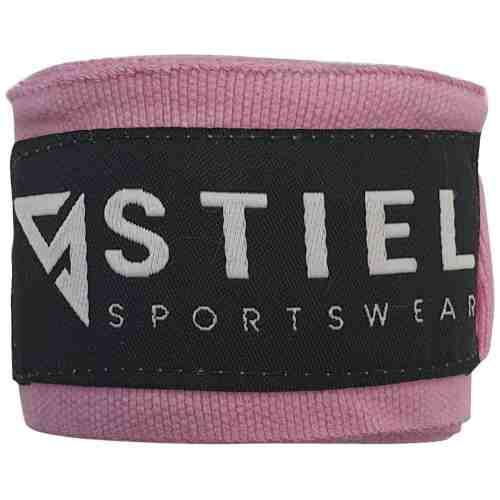 Stiel Bandages - Katoen - Brede Sluiting - 400 cm - Roze - jokasport.nl
