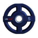 LMX73 – 50 mm Olympische halterschijf PU 5 kg – jokasport.nl