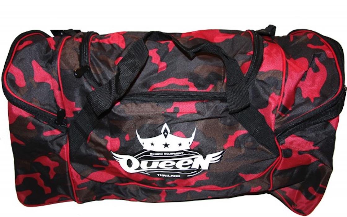 Queen Sporttas - Camo Rood - 66x31x36cm