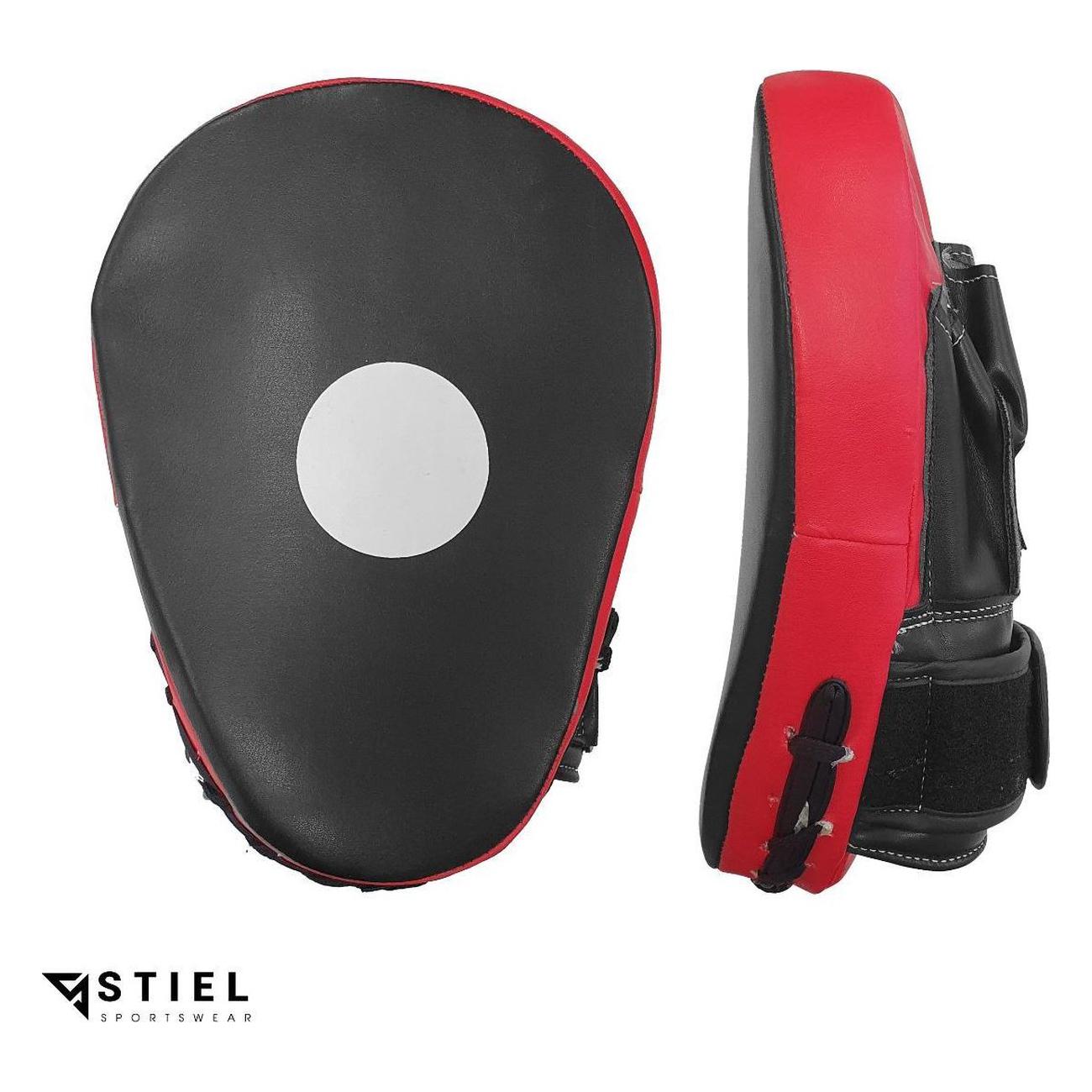 Stiel Handpad – Stootpad – PU – Zwart met rood