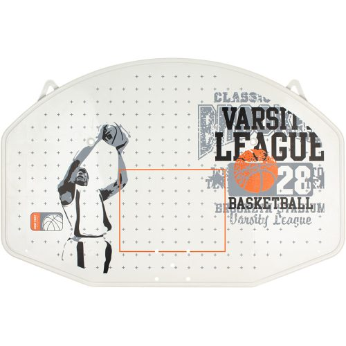 New Port Basketbalbord + ring + net - Wit/Grijs/Oranje - jokasport.nl