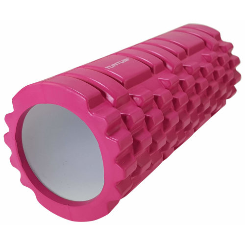 Tunturi Yoga Foam Grid Roller 33cm-roze-jokasport