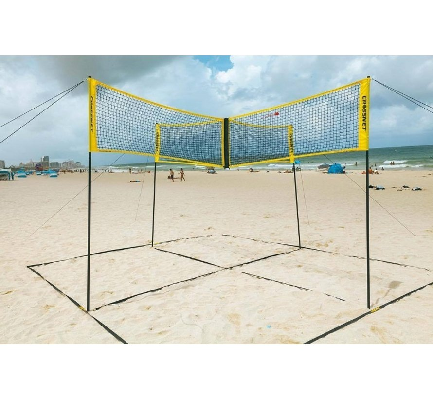 Hammer Crossnet Volleybal Net Four Square 6