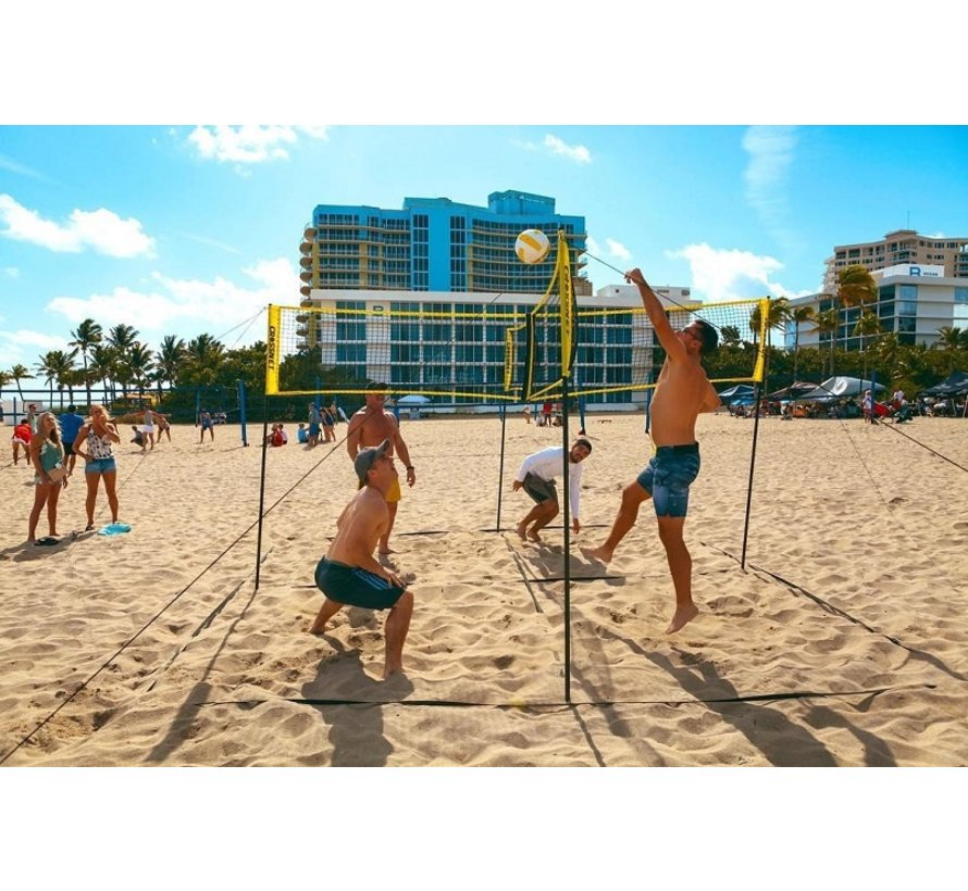 Hammer Crossnet Volleybal Net Four Square 7