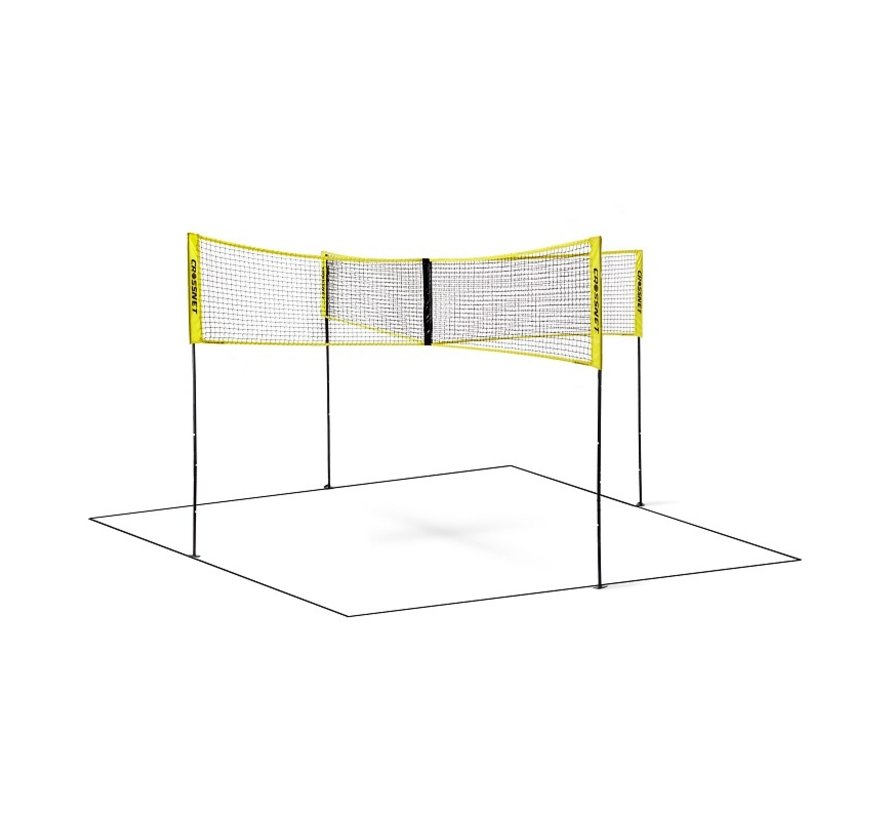 Hammer Crossnet Volleybal Net Four Square 1