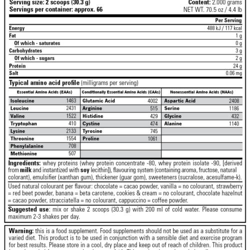 Stacker 2 100% Whey Protein 908 gram