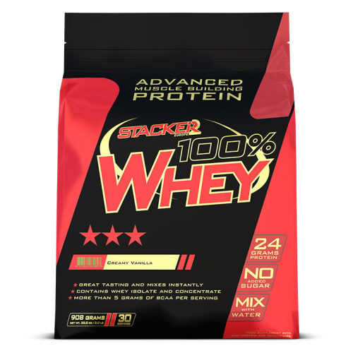 Stacker 2 100% Whey Protein 908 gram - Vanilla
