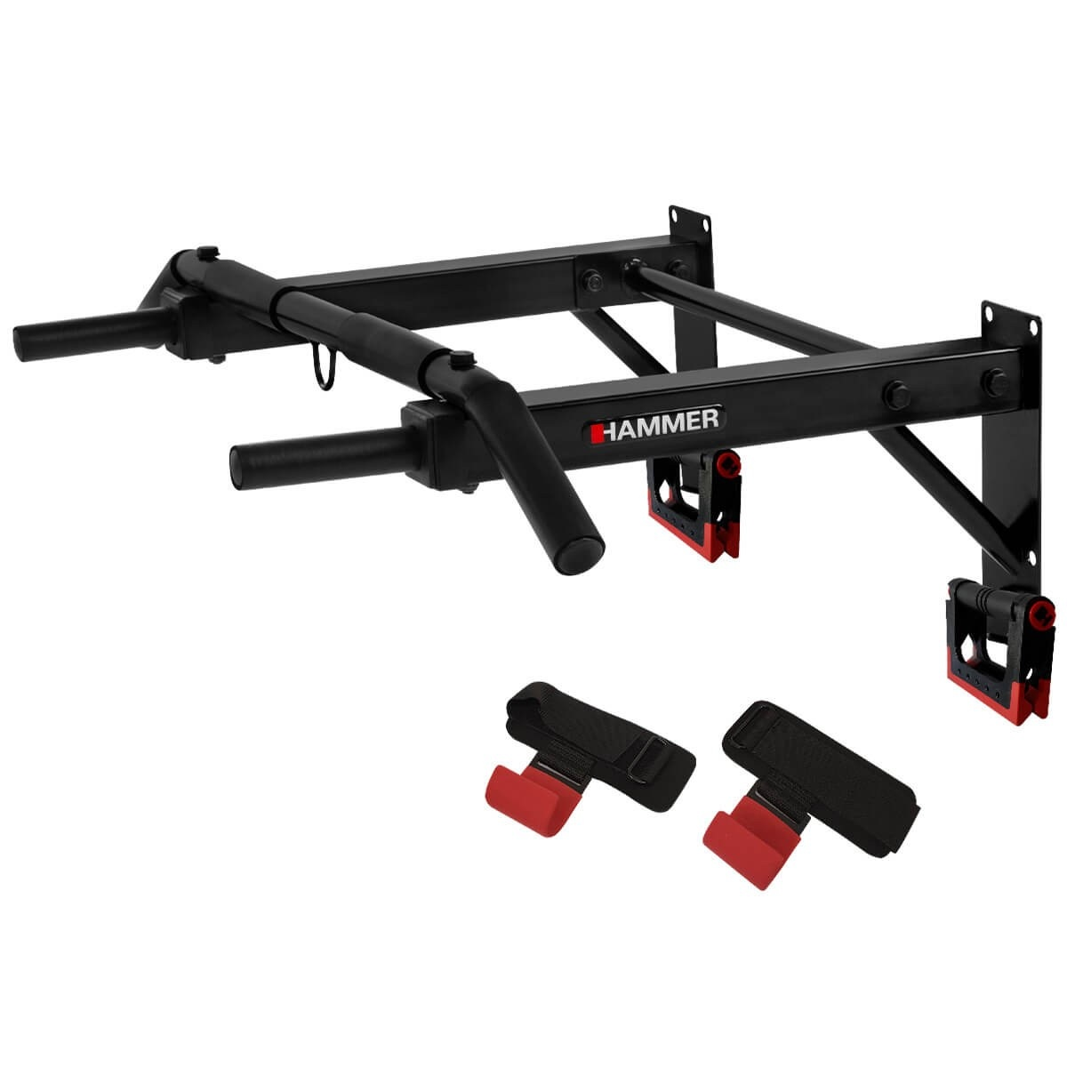 Hammer Optrekstang – met lifting hooks en push-up bars 1