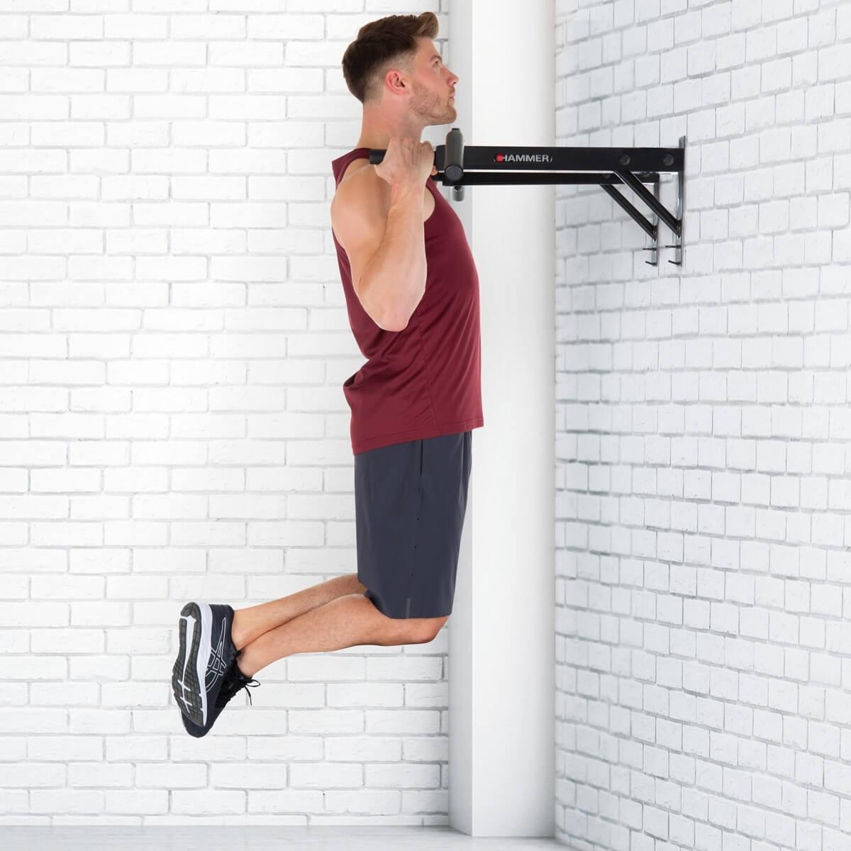 Hammer Optrekstang - met lifting hooks en push-up bars