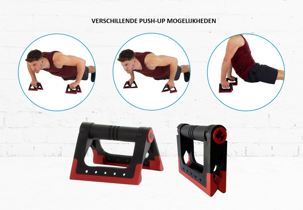 Hammer Optrekstang – met lifting hooks en push-up bars 4