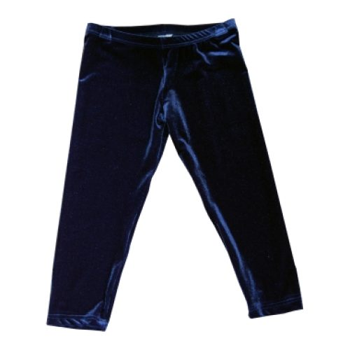 Ervy capri tight donkerblauw velours