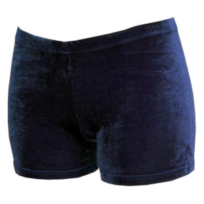 Hotpant donkerblauw glad velours