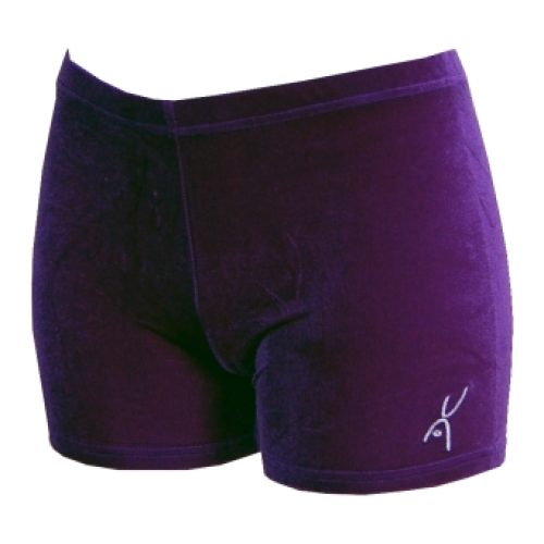 Hotpant paars glad velours