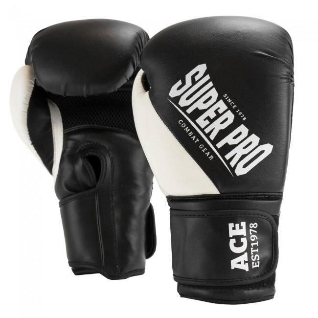 Super Pro Combat Gear ACE (kick)bokshandschoenen Zwart-Wit