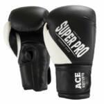 Super Pro Combat Gear ACE (kick)bokshandschoenen Zwart-Wit 7