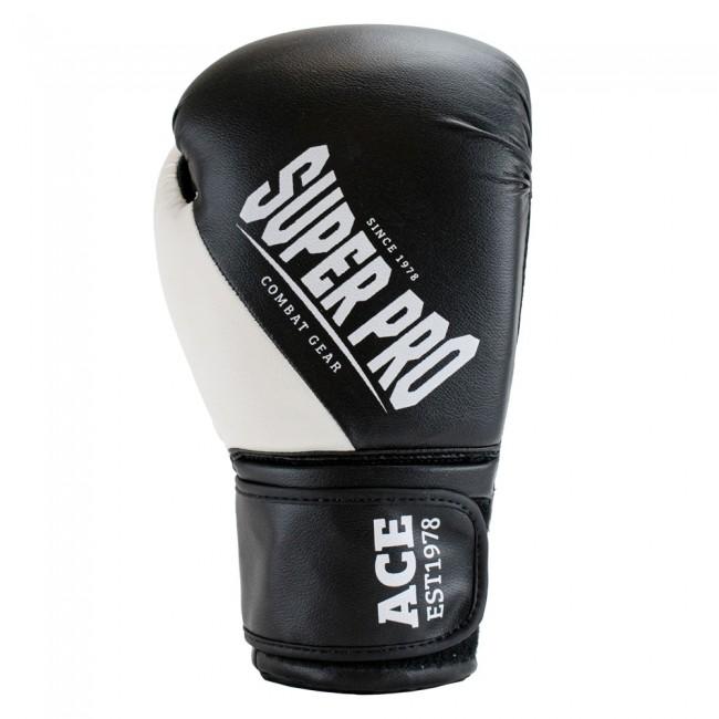 Super Pro Combat Gear ACE (kick)bokshandschoenen Zwart-Wit 4