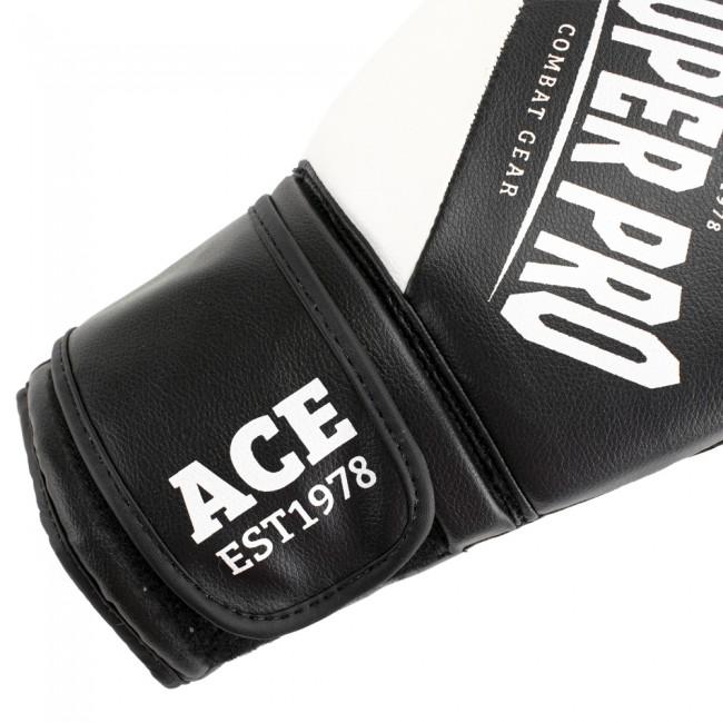 Super Pro Combat Gear ACE (kick)bokshandschoenen Zwart-Wit 5