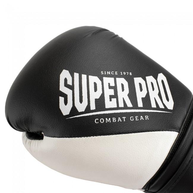 Super Pro Combat Gear ACE (kick)bokshandschoenen Zwart-Wit 6