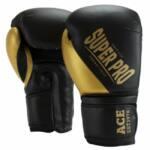 Super Pro Combat Gear ACE (kick)bokshandschoenen Zwart-Goud 1