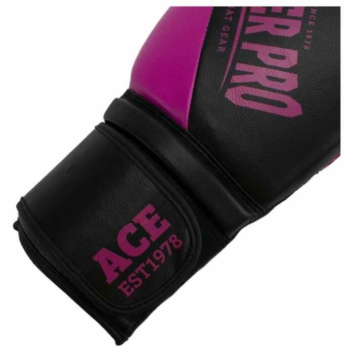 Super Pro Combat Gear ACE (kick)bokshandschoenen Zwart-Roze