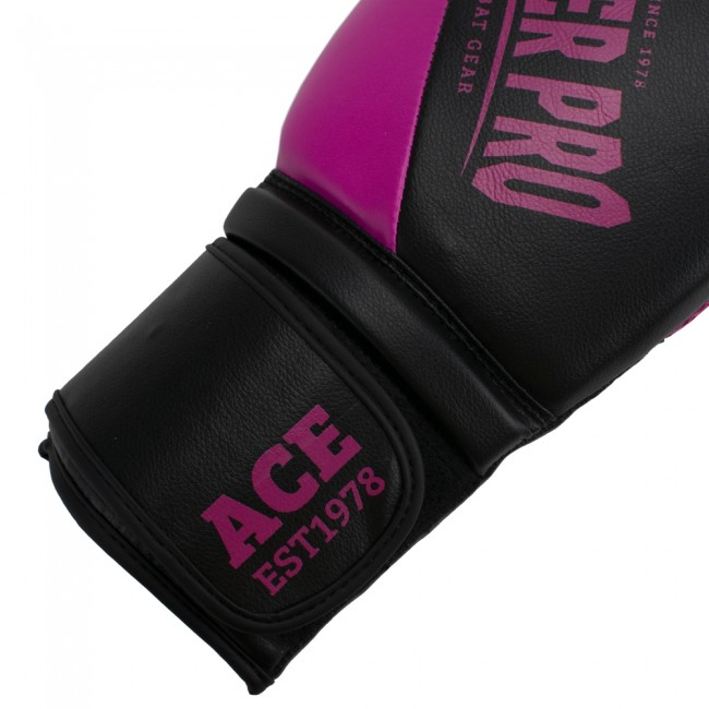 Super Pro Combat Gear ACE (kick)bokshandschoenen Zwart-Roze 4