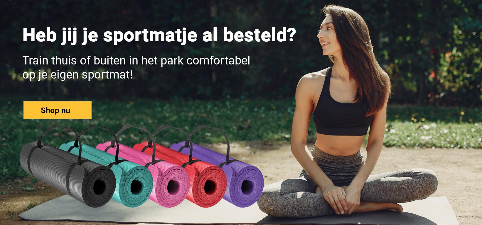 fitnessmat voor buiten of binnen / sportmat / yogamat - jokasport.nl