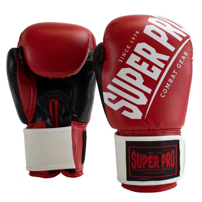 Super Pro Kickbokshandschoenen Rebel Rood - Zwart - Wit