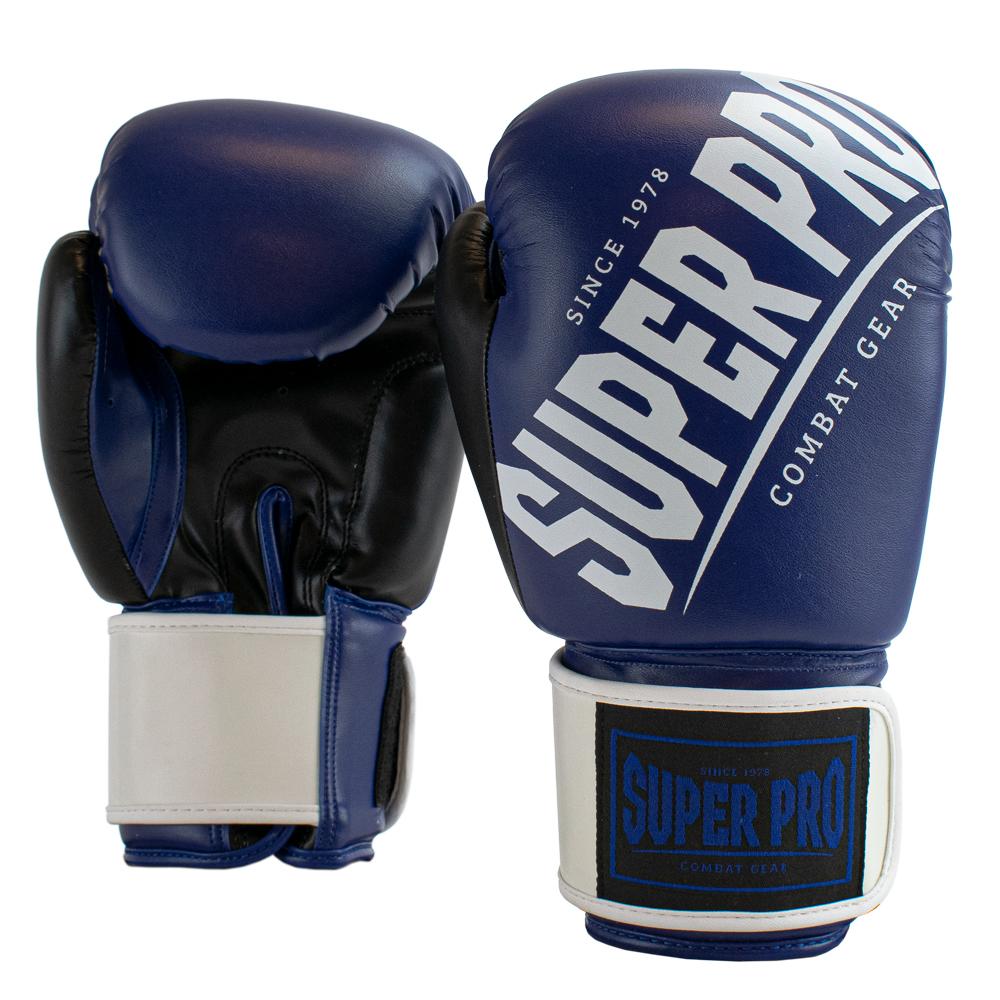 Super Pro Kickbokshandschoenen Rebel Blauw - Zwart - Wit