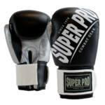 Super Pro Kickbokshandschoenen Rebel Zwart – Grijs – Wit 1