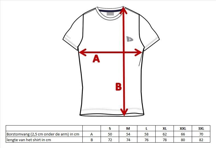 Donnay Heren - T-Shirt Vince - Donkergrijs gemeleerd