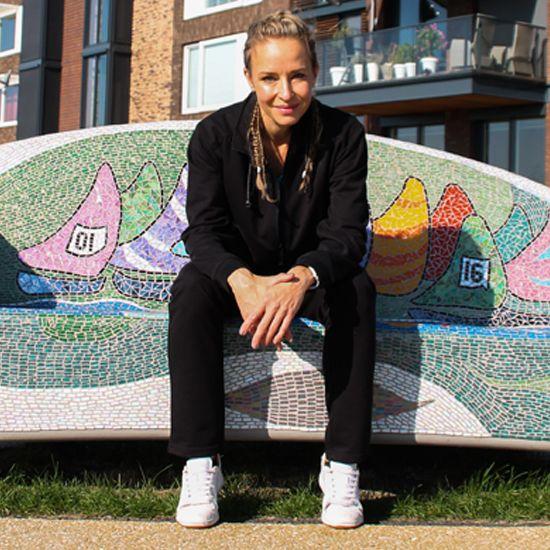 Donnay Dames - Joggingbroek rechte pijp Lily - Zwart