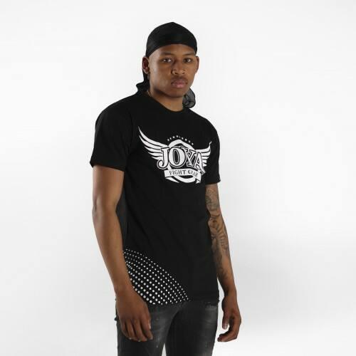 Joya V2 Katoenen T-Shirt - Zwart met wit