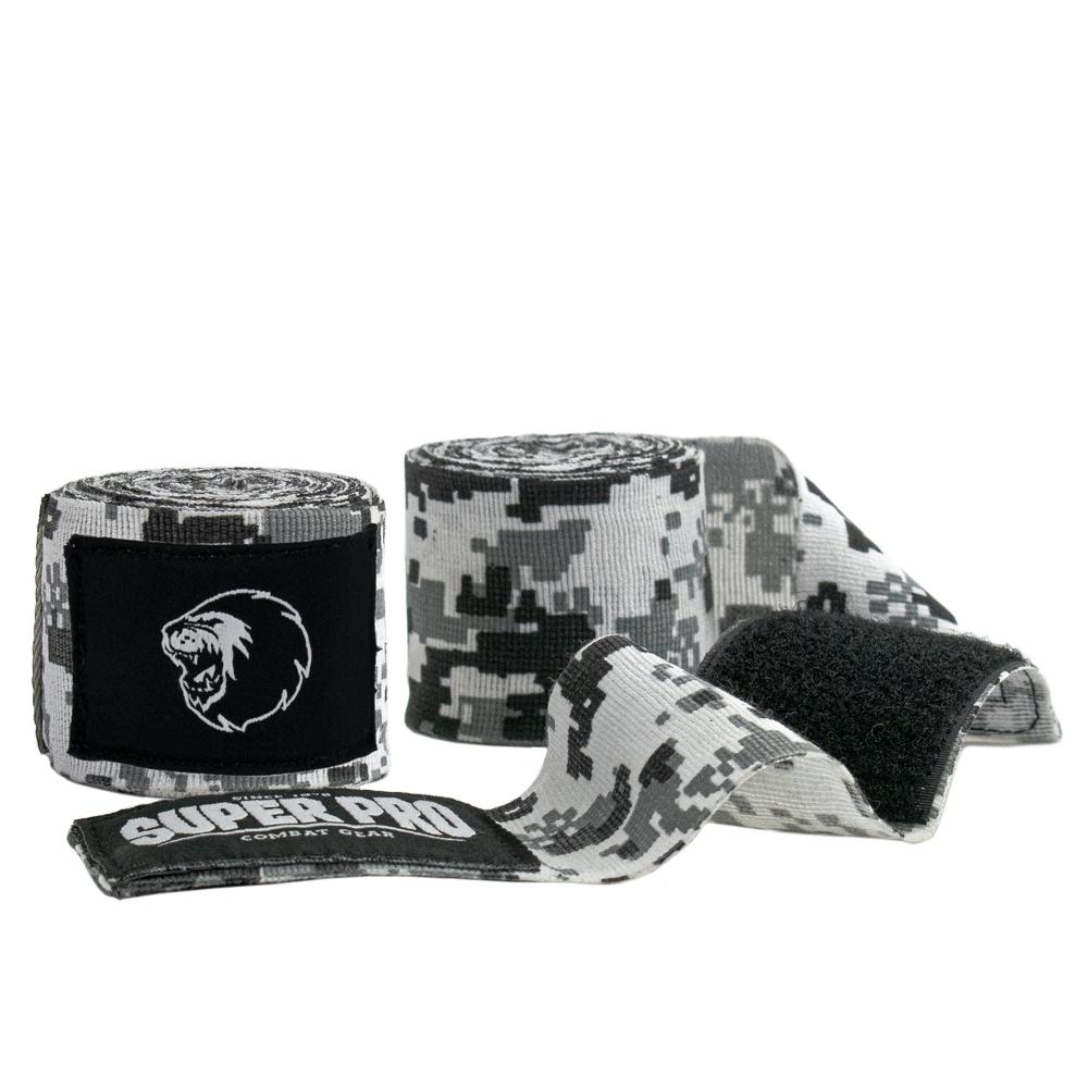 Super Pro Combat Gear Bandages Camo Zwart/Grijs/Wit