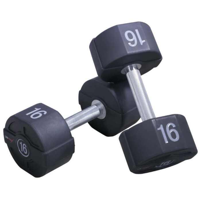Lifemaxx PU Dumbbellset - per paar - 22 kilo