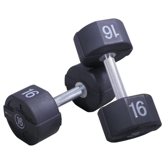 Lifemaxx PU Dumbbellset - per paar - 28 kilo