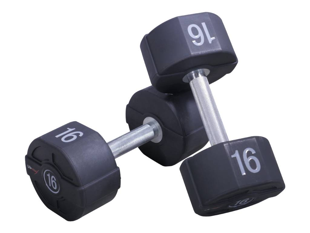 Lifemaxx PU Dumbbellset - per paar - 56 kilo