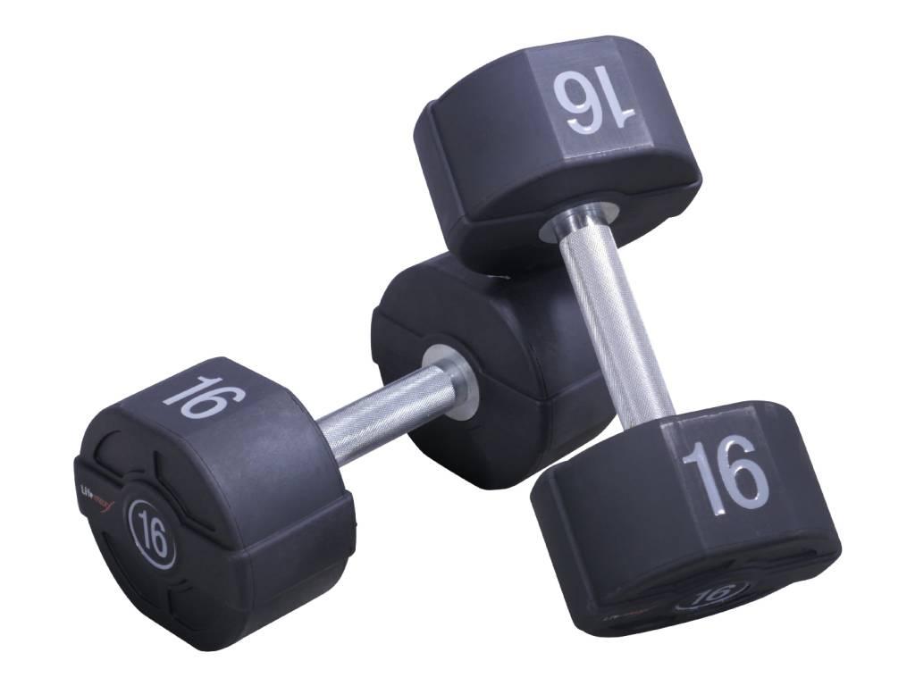 Lifemaxx PU Dumbbellset - per paar - 58 kilo