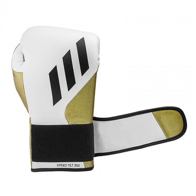 Adidas Bokshandschoenen Speed TILT 350V Pro Training Wit/Goud