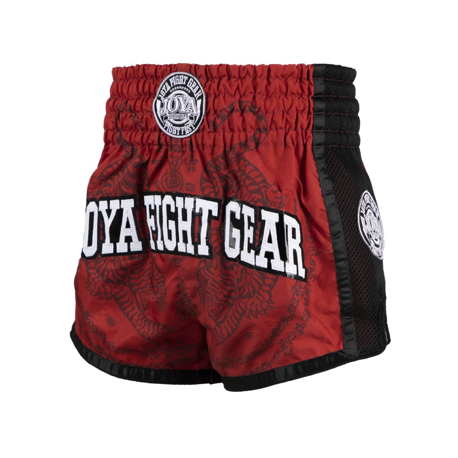 Joya Sak Yant Tiger Muay Thai Short - Rood