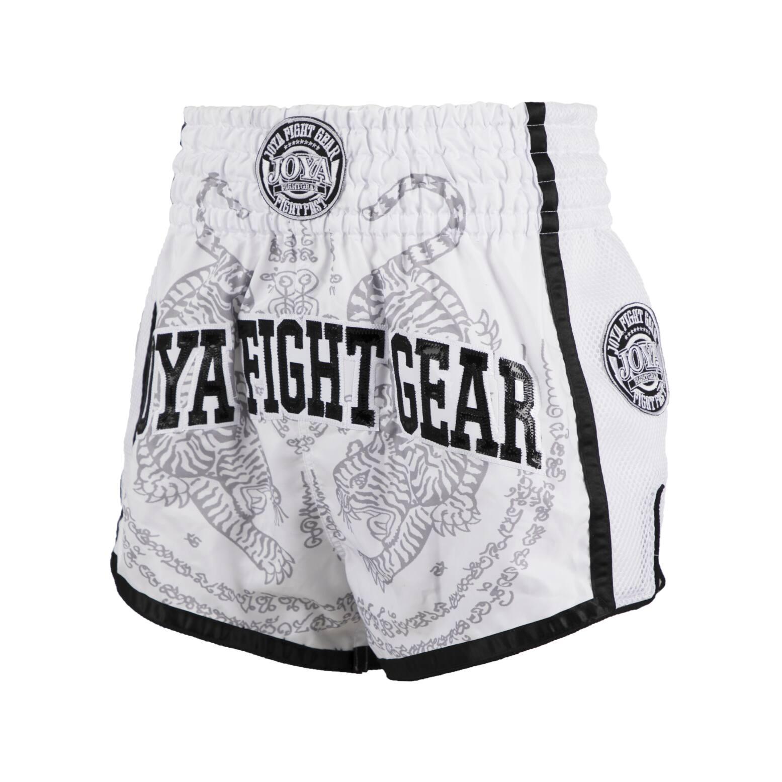 Joya Sak Yant Tiger Muay Thai Short - Wit